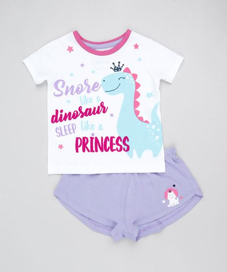 Pijama-Infantil-Dinossauro-Manga-Curta--Branco-9876982-Branco_1