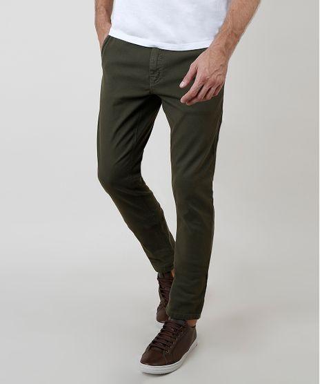 Calca-Masculina-Chino-Slim-com-Cinto-Verde-Militar-9634419-Verde_Militar_1