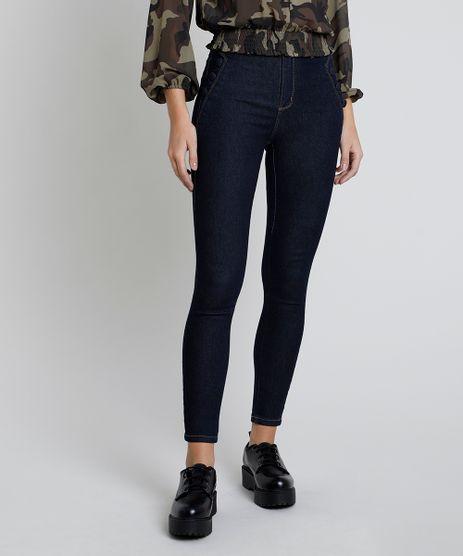 Calca-Jeans-Feminina-Sawary-Cigarrete-Cintura-Alta-Azul-Escuro-9896007-Azul_Escuro_1
