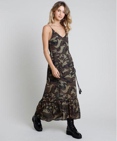 Vestido-Feminino-Longo-Estampado-Camuflado-com-Amaracao-e-Babado-Alca-Fina--Verde-Militar-9819261-Verde_Militar_1