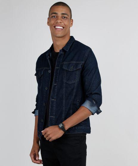 Jaqueta-Jeans-Masculina-com-Bolsos-Azul-Escuro-9876037-Azul_Escuro_1