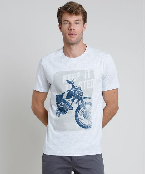 Camiseta-Masculina-Motocicleta-Manga-Curta-Gola-Careca-Cinza-Mescla-Claro-9870285-Cinza_Mescla_Claro_1
