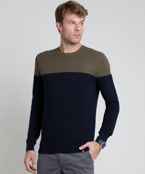 Sueter-Masculino-em-Trico-Texturizado-Bicolor-Azul-Marinho-9801194-Azul_Marinho_1