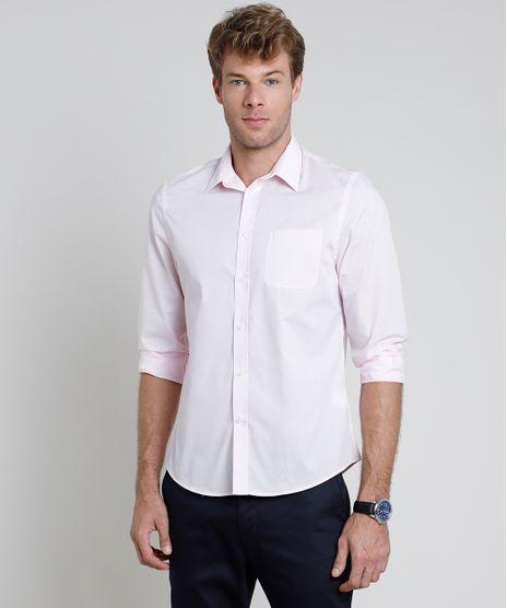 Camisa-Social-Masculina-Comfort-com-Bolso-Manga-Longa--Rosa-Claro-1-7591834-Rosa_Claro_1_1