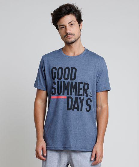 Camiseta-Masculina--Good-summer-day--Manga-Curta-Gola-Careca-Azul-9869834-Azul_1
