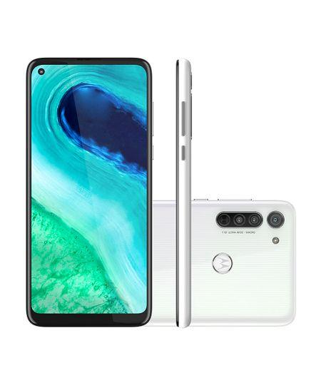 Celular Smartphone Motorola Moto G8 Xt2045 64gb Branco - Dual Chip