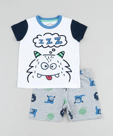 Pijama-Infantil-Monstrinho-Manga-Curta-Branco-9878561-Branco_1
