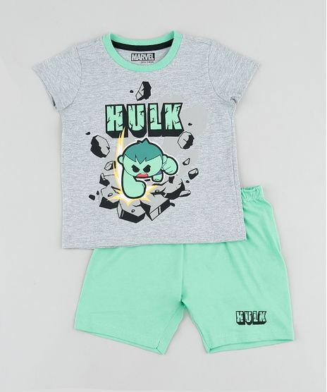 Pijama-Infantil-Hulk-Manga-Curta-Cinza-Mescla-9878564-Cinza_Mescla_1