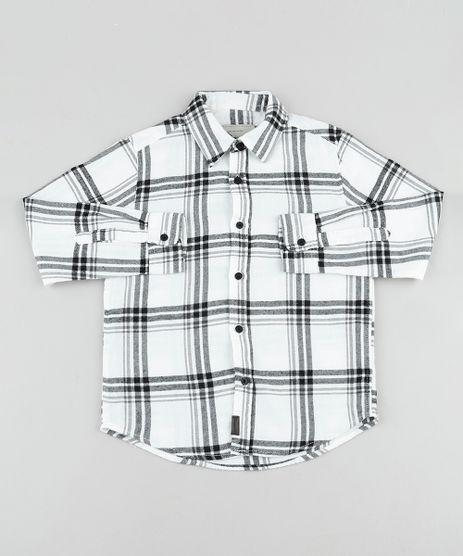 Camisa-Infantil-em-Flanela-Estampada-Xadrez-Manga-Longa-Branca-9808440-Branco_1