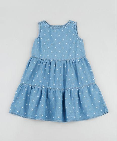 Vestido-Jeans-Infantil-Estampado-de-Coracoes-com-Recortes-Sem-Manga-Azul-Medio-9892649-Azul_Medio_1