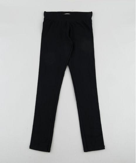 Calca-Legging-Infantil-com-Faixa-Lateral--Girl-Power--Preta-9911948-Preto_1