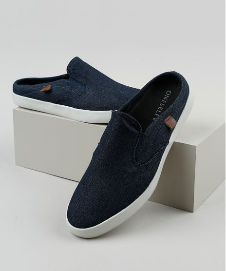 Tenis-Jeans-Mule-Slip-On-Masculino-Oneself-Azul-Escuro-9529415-Azul_Escuro_1