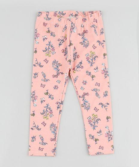 Calca-Legging-Infantil-Basica-Estampada-Floral-Coral-9895122-Coral_1