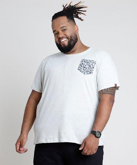 Camiseta-Masculina-com-Bolso-Estampado-Floral-Manga-Curta-Gola-Careca-Bege-Claro-9846749-Bege_Claro_1