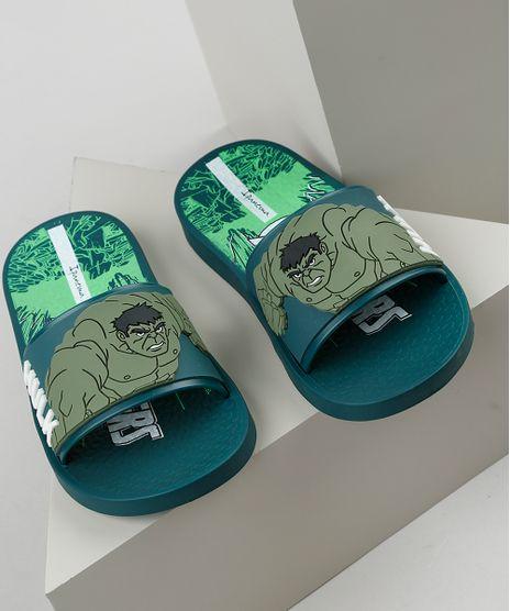 Chinelo-Slide-Infantil-Ipanema-Hulk-Estampado-Verde-Escuro-9925104-Verde_Escuro_1