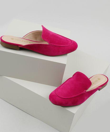 Mule-Feminino-Via-Uno-Bico-Redondo-em-Suede-Pink-9926264-Pink_1