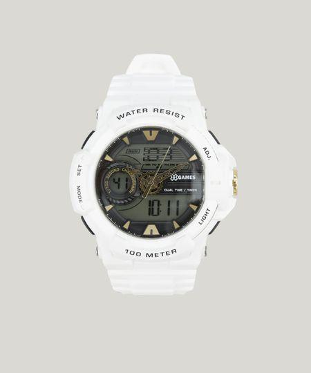 551dc50121b Relógio Digital X-Games Masculino - XMPPA187 BXBX Branco - cea