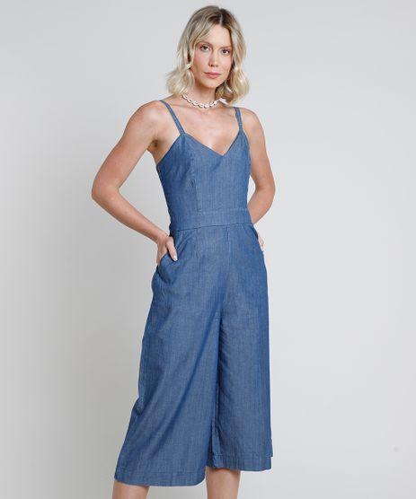 Macacao-Jeans-Feminino-Pantacourt-com-Bolsos-Alca-Fina-Azul-Medio-9893644-Azul_Medio_1