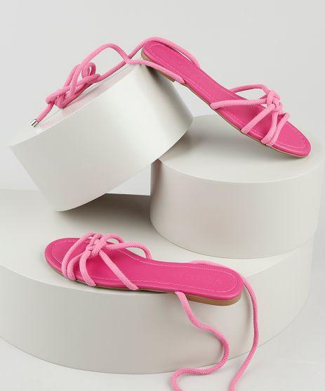 Rasteirinha-Feminina-Oneself-com-Corda-e-Amarracao-Pink-9928681-Pink_1