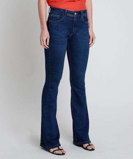 Calca-Jeans-Feminina-Flare-Cintura-Alta-Azul-Escuro-9854646-Azul_Escuro_1
