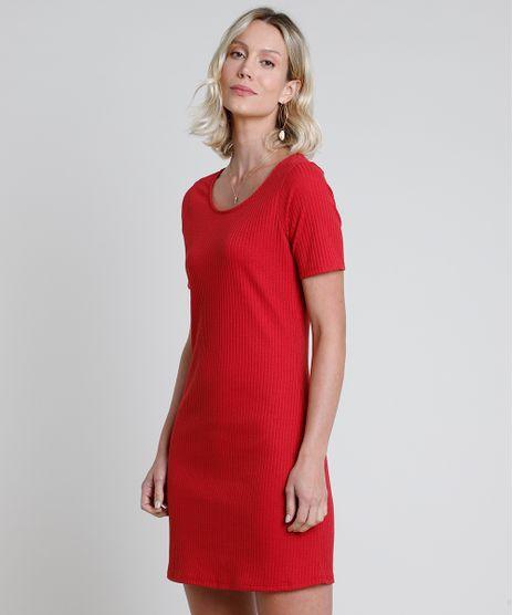 Vestido-Feminino-Curto-Canelado-Manga-Curta-Vermelho-9872910-Vermelho_1