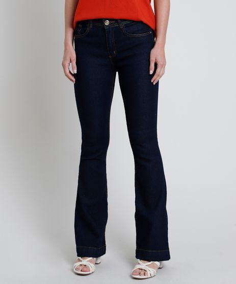 Calca-Jeans-Feminina-Flare-Cintura-Alta-Azul-Escuro-9854647-Azul_Escuro_1