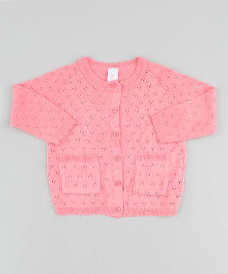 Cardigan-Infantil-em-Trico-com-Bolsos-Rosa-9916718-Rosa_1