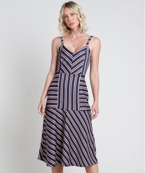 Vestido-Feminino-Midi-Listrado-com-Recortes-Alca-Fina-Azul-Marinho-9874850-Azul_Marinho_1