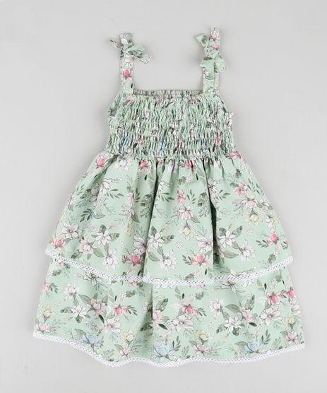Vestido-Infantil-em-Camadas-Estampado-Floral-com-Lacos-Alca-Media-Verde-9906259-Verde_1