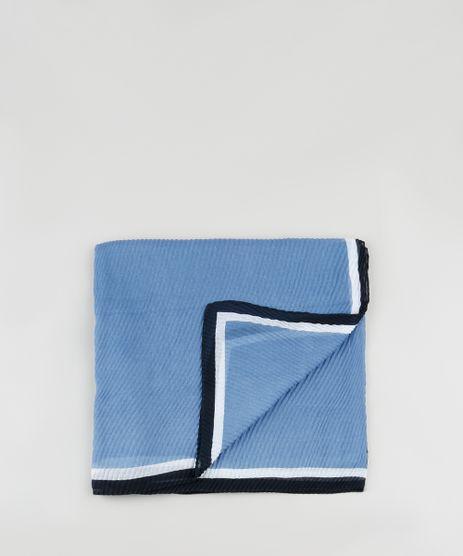 Lenco-Feminino-Plissado-com-Listras-Azul-9841629-Azul_1