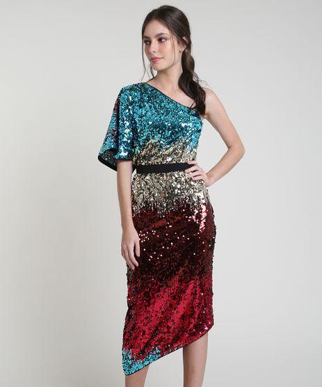 Vestido-Feminino-Mindset-Midi-Assimetrico-Um-Ombro-So-em-Paetes-Manga-Curta-Multicor-9883330-Multicor_1