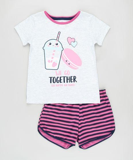 Pijama-Infantil-Milkshake-e-Macaron-Manga-Curta-Cinza-Mescla-Claro-9876986-Cinza_Mescla_Claro_1