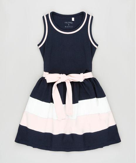 Vestido-Infantil-com-Recortes-e-Faixa-para-Amarrar-Sem-Manga-Azul-Marinho-9916420-Azul_Marinho_1
