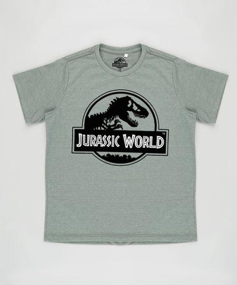 Camiseta-Infantil-Jurassic-World-Manga-Curta-Verde-Militar-9876753-Verde_Militar_1