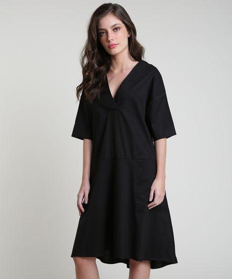 Vestido-Feminino-Mindset-Curto-com-Bolsos-Manga-Curta-Preto-9674905-Preto_1