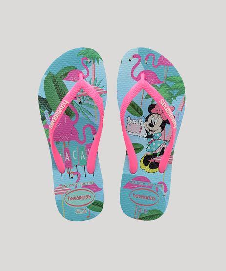 Chinelo-Feminino-Havaianas-Slim-Disney--Cool-Estampado-Minnie-Azul-Claro-9918380-Azul_Claro_1