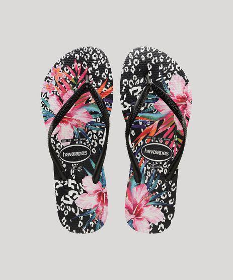 Chinelo-Feminino-Havaianas-Slim-Animal-Floral-Estampado-Preto-9917872-Preto_1