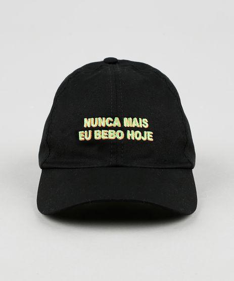 Bone-Unissex-Aba-Curva-Carnaval-com-Bordado--Nunca-Mais-Eu-Bebo-Hoje--Preto-9943083-Preto_1