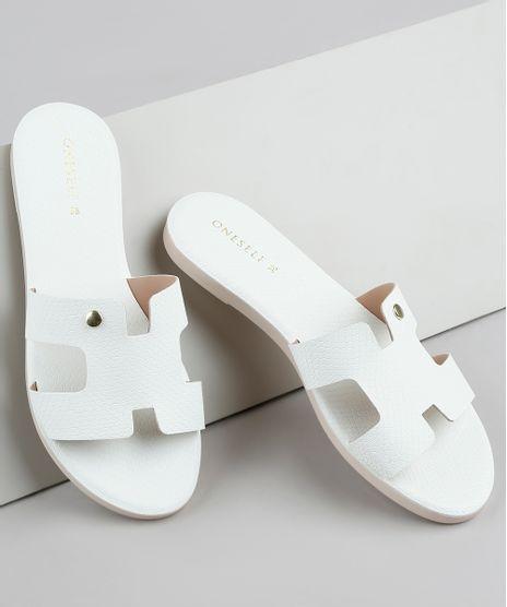 Rasteirinha-Slide-Feminina-Oneself-Texturizada-Cobra-com-Vazado-Off-White-9728902-Off_White_1
