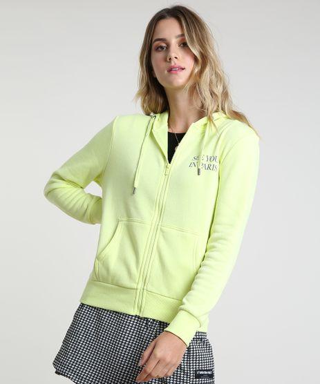 Blusao-Feminino-em-Moletom-Felpado--See-You-In-Paris--com-Capuz--Verde-Neon-9795919-Verde_Neon_1