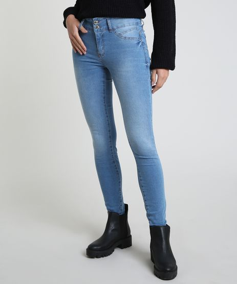 Calca-Jeans-Feminina-Sawary-Skinny-Pull-up-Cintura-Alta-Azul-Claro-9864212-Azul_Claro_1