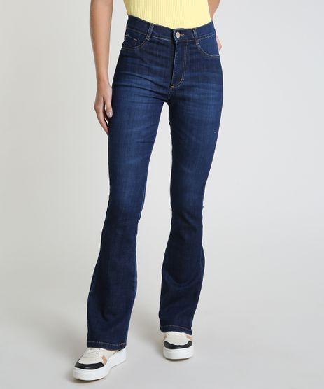 Calca-Jeans-Feminina-Sawary-Flare-Cintura-Alta-Azul-Escuro-9945259-Azul_Escuro_1