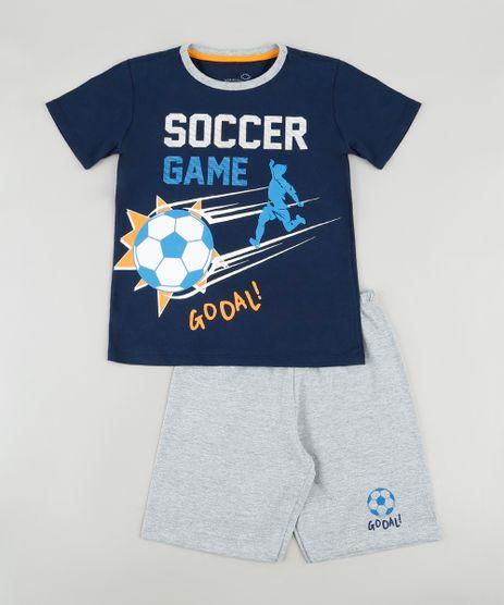 Pijama-Infantil--Soccer-Game--Manga-Curta-Azul-Marinho-9878565-Azul_Marinho_1