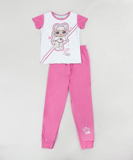 Pijama-Infantil-LOL-Surprise-Manga-Curta-Cinza-Mescla-Claro-9876987-Cinza_Mescla_Claro_1