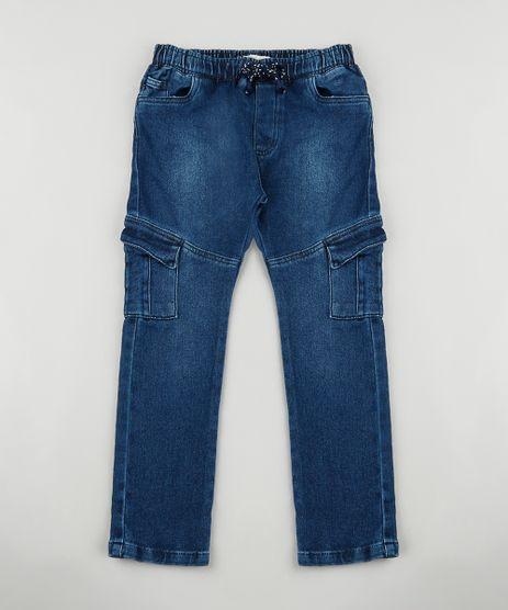 Calca-Jeans-Infantil-Jogger-Cargo-em-Moletom-Azul-Escuro-9889205-Azul_Escuro_1