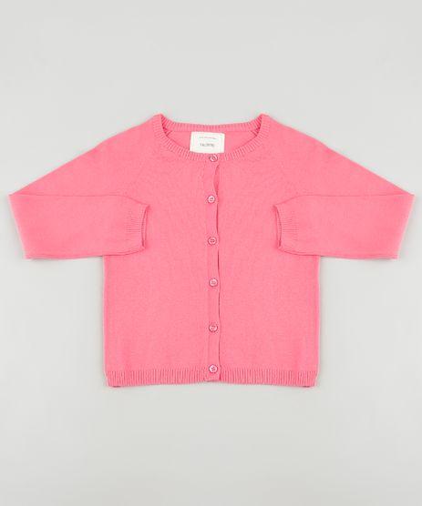 Cardigan-Infantil-Basico-em-Trico-Rosa-9797562-Rosa_1