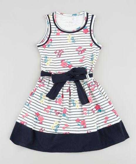 Vestido-Infantil-Listrado-Floral-com-Faixa-para-Amarrar-Sem-Manga-Off-White-9916423-Off_White_1