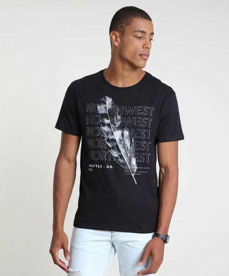 Camiseta-Masculina--North-West--Manga-Curta-Gola-Careca-Preta-9863938-Preto_1