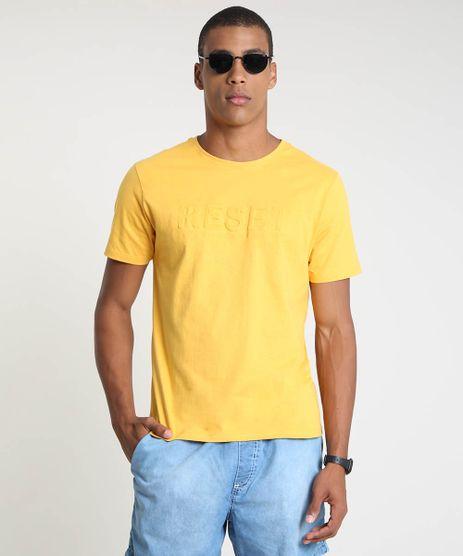 Camiseta-Masculina--Reset--Manga-Curta-Gola-Careca-Mostarda-9873514-Mostarda_1