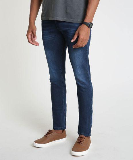 Calca-Jeans-Masculina-Slim-com-Bolsos-Azul-Escuro-9896097-Azul_Escuro_1